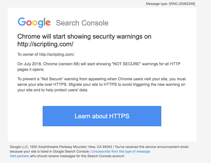 """Chrome now says all HTTP sites are """"not secure"""" but is it a good"""