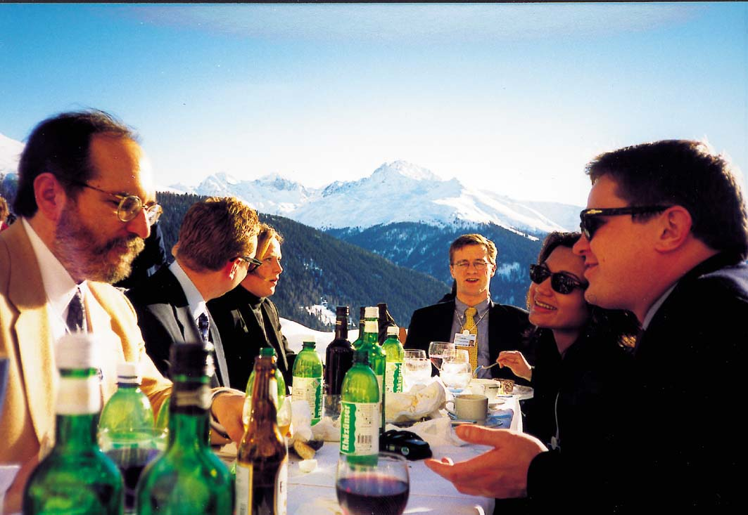 Schatzalp Lunch at Davos: This is where we had lunch at the final day at Davos. Already I had forgotten how spectacular the scenery and how collegial and friendly the spirit of Davos is. Thanks to Suzanne McCullough at WorldLink for sending this picture.